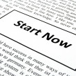 Start now - Stock Photo