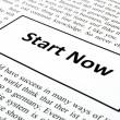 Start now — Stock Photo
