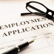 Royalty-Free Stock Photo: Employment application