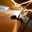 Night drive with car in motion — Stock Photo #3028980