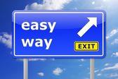 The easy way — Stock Photo