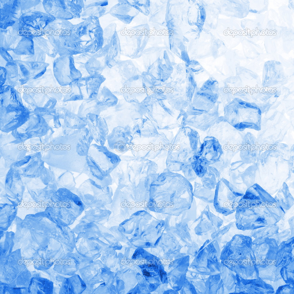 Square cool ice background in blue with copyspace                                Stock Photo #3021475