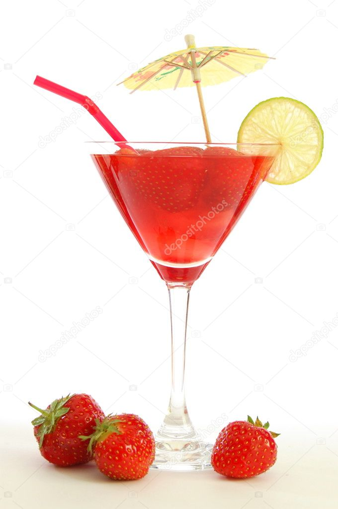 Strawberry Juice Or Cocktail Stock Photo Gunnar3000