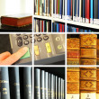 Library collage — Stock Photo
