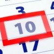 10 calendar day — Stock Photo