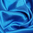 Blue satin background - Stock Photo