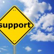 Support sign — Stock Photo #3043524