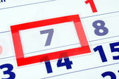 7 calendar day — Stock Photo