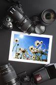 Camera still life — Stock Photo