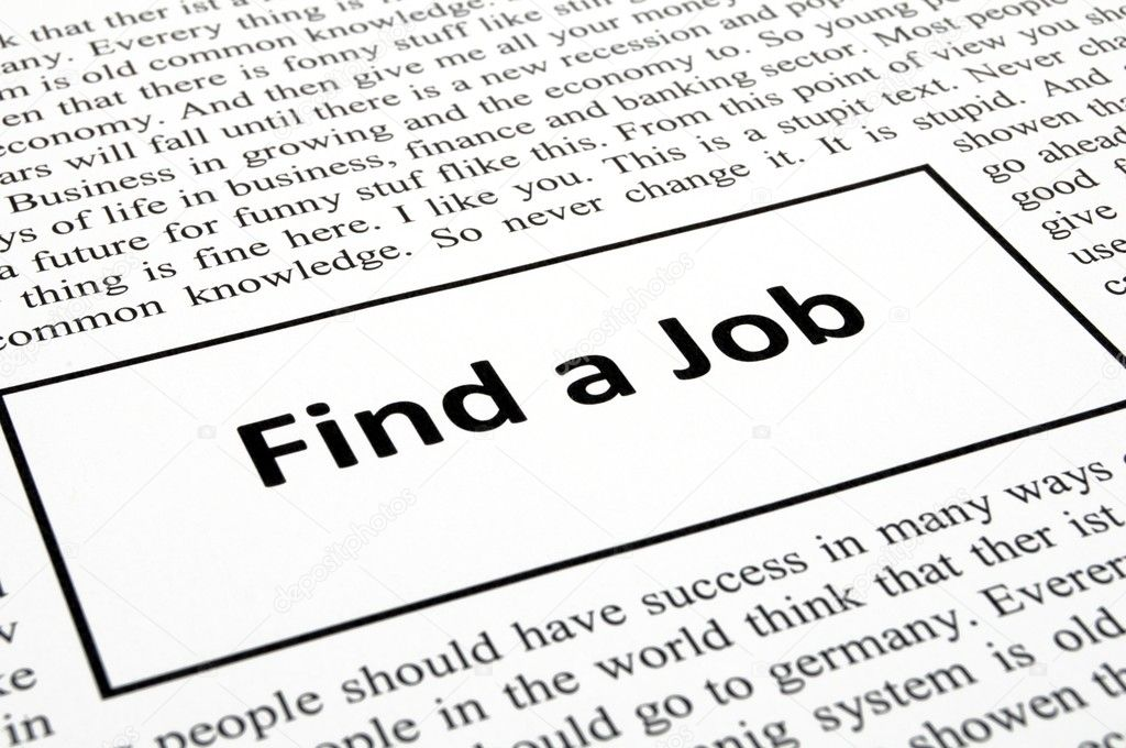 Find a job in newspaper showing unemployment concept — Stock Photo #3041950