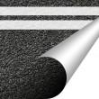 Asphalt texture with copyspace — Stock Photo