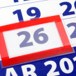 26 calendar day — Stock Photo