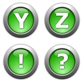 Internet button alphabet — Stock Photo