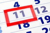 11 calendar day — Stock Photo