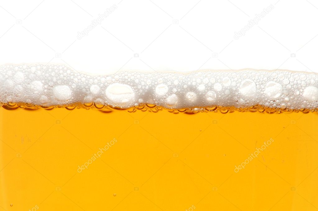 Glass of beer isolated on white background  Stock Photo #3062317