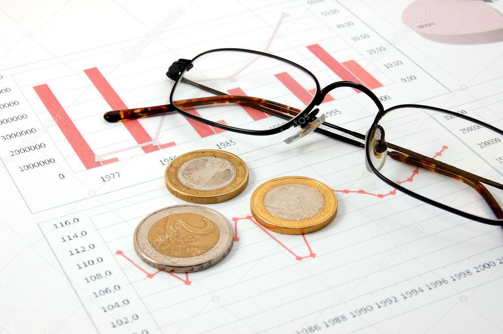 Euro money over business chart showing financial success  — Stock Photo #3063012