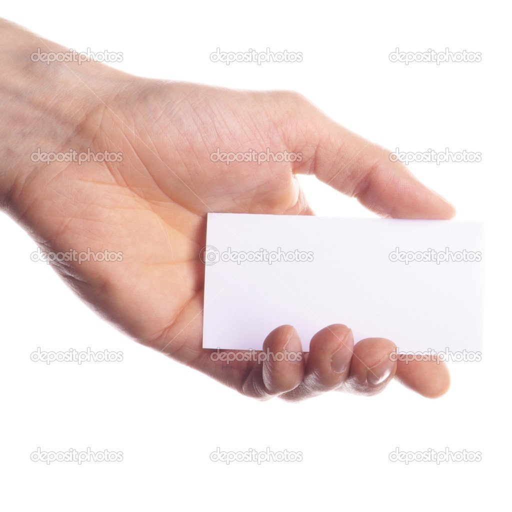 Hand and blank or empty paper with copyspace for text message — Stock Photo #3064737