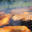 Meat on the barbecue — Stock Photo #3081911