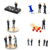 Colecção de homem de negócios — Foto Stock