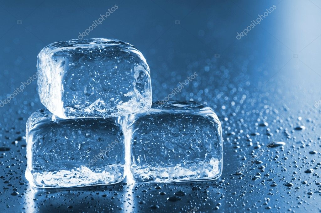 Cool ice cube background with copyspace for a text message  Stock Photo #3081981