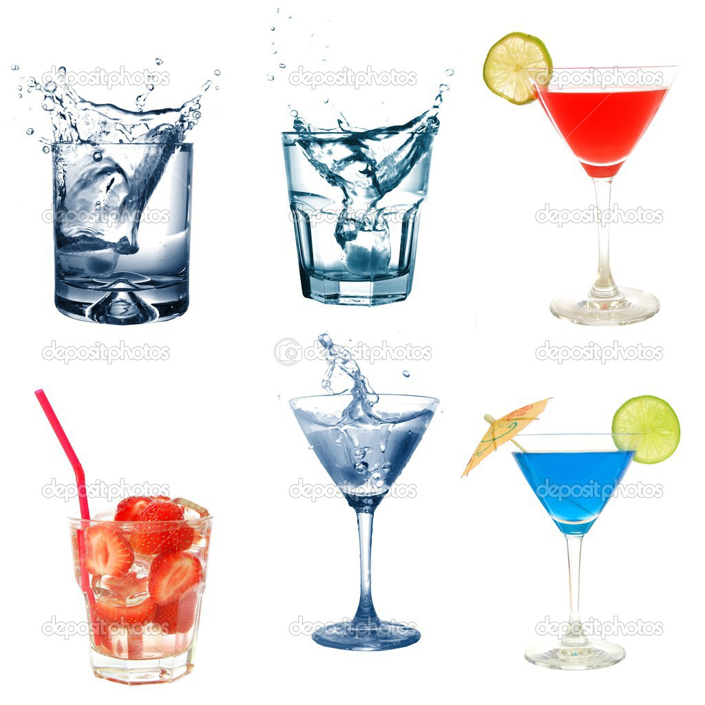 Drink or cocktail collection isolated on a white background — Stock Photo #3082917