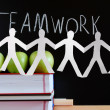Teamwork and chalkboard — Stock Photo #3293032