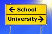 School and university education — Stock Photo