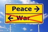 Peace and war — Stock Photo