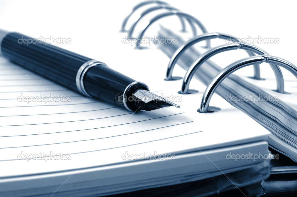 Business pocket planner and pen ready to note an appointment — Stock Photo #3292969