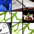 Collage of business or finance — Stock Photo #3316240