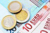 Euron pengar — Stockfoto