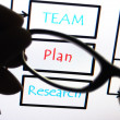 Business planning process — Stock Photo