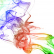 Abstract rainbow smoke — Stock Photo