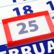 25 calendar day — Stock Photo #3352988