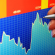 Financial stock market — Stock Photo