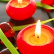 Red candle light — Stock Photo