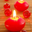 romantisches Candle-light — Stockfoto