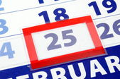 25 calendar day — Stock Photo