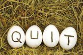 Quit — Stock Photo