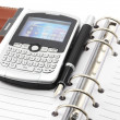 Organizer and cell phone - Foto Stock