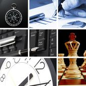 Collage of business or finance — Foto Stock
