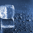 Ice cube macro — Stock Photo