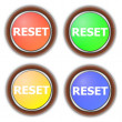 Reset button collection — Stock Photo