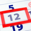 12 calendar day — Stock Photo