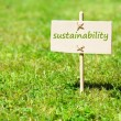 Sustainability concept with word on nature still life — Stock Photo #3441213