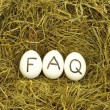 Faq - Foto Stock