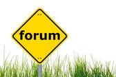 концепция интернет форум — Стоковое фото