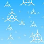 蓝色冬季背景 — 图库照片