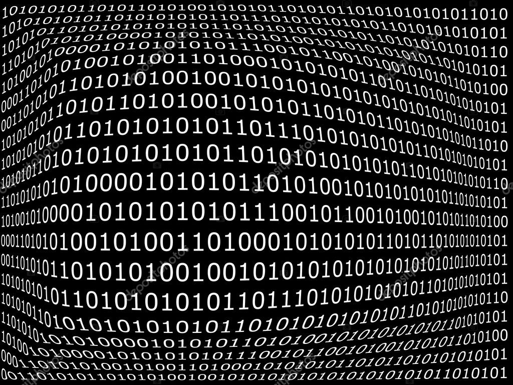 Binary computer data background with 1 and 0 — Stock Photo #3440706