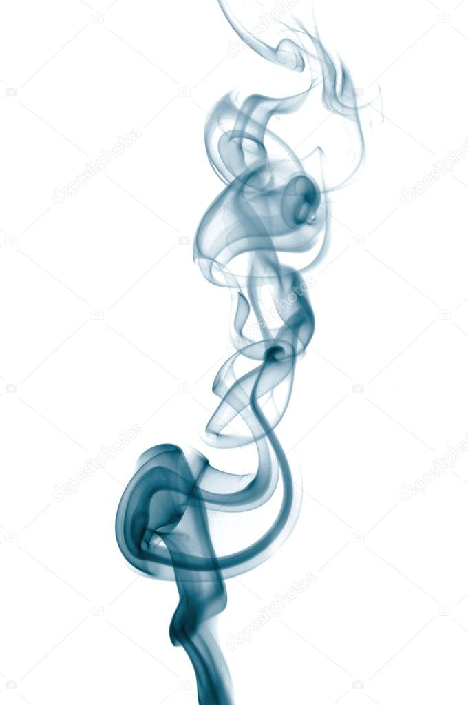 Abstract blue smoke isolated on white background — Stock Photo #3445294